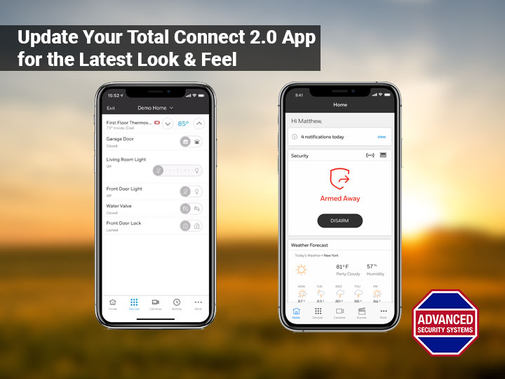 Update Your Total Connect 2.0 App for a New Look & Feel